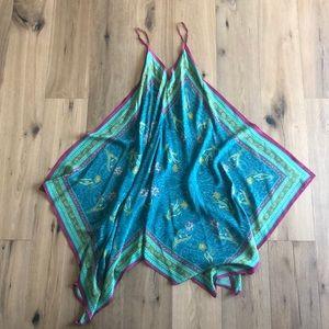 Silk scarf print dress